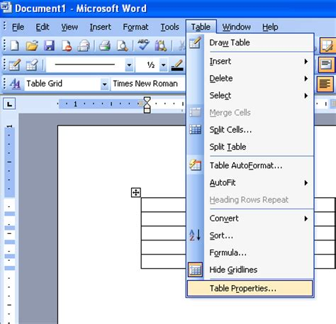 Html Table Margin by Change The Cell Margin In A Table Microsoft Office Support