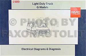 1989 Gmc G Van  Vandura Wiring Diagram Manual Original