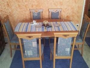 6 Esszimmerstühle Gebraucht : esstisch ausziehbar 136cm bis 270cm 6 st hle 3 ausziehplatten ~ Frokenaadalensverden.com Haus und Dekorationen