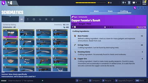 fortnite how to craft weapons using schematics allgamers