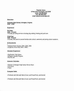 Qualification Sample For Resume Free 10 Sample High School Cv Templates In Ms Word Pdf
