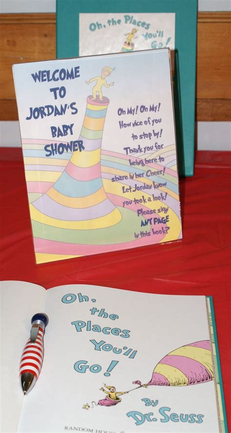 Baby Shower Sign In Book by Guest Book Jordan S Dr Seuss Baby Shower Pinterest