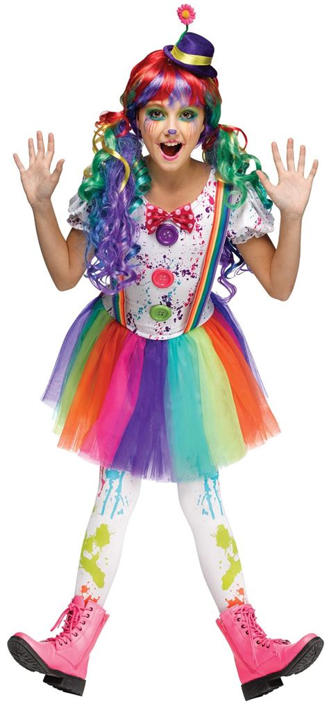 Buy Crazy Color Clown Costume For Kids