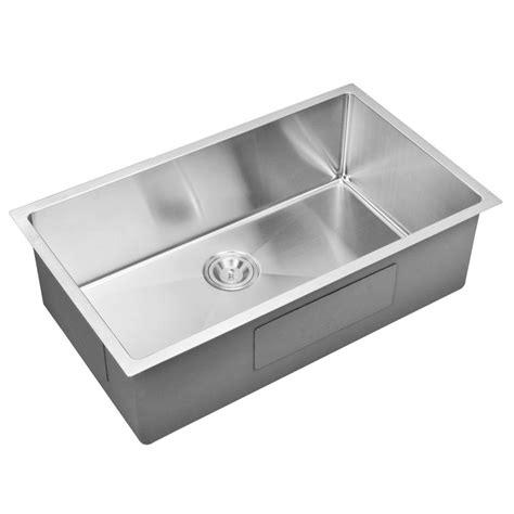 kitchen sink finishes water creation undermount small radius stainless steel 2707