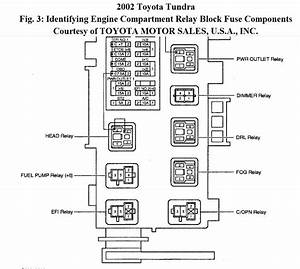Where Is The Fuel Pump Of 2002 Toyota Tundra 3 4l  A Diagram Is