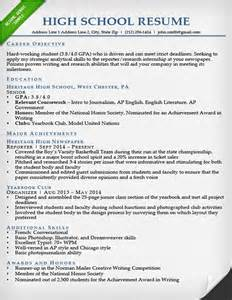 high school resume template internship resume sles writing guide resume genius