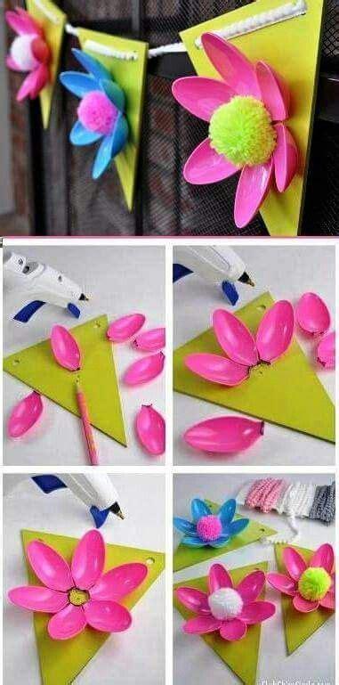 fiori con cucchiai di plastica fiori con cucchiai di plastica scuola plastic spoon