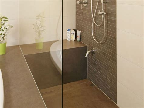 sitz für dusche sitz in dusche ceraflex zement braun badezimmer ideen