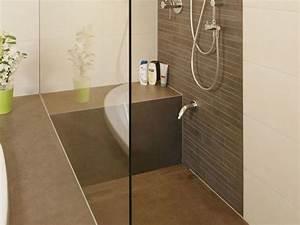 Dusche Ohne Duschtasse : sitz in dusche ceraflex zement braun badezimmer ideen pinterest zement braun und badezimmer ~ Indierocktalk.com Haus und Dekorationen