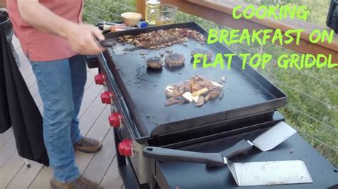 grille tv free breakfast on c chef griddle with the sporting chef