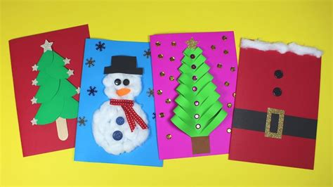 diy christmas card ideas christmas craft  kids youtube