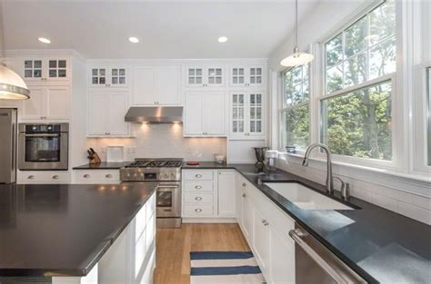 tiles on kitchen countertop kitchen with flush pendant light in edgartown ma 6233