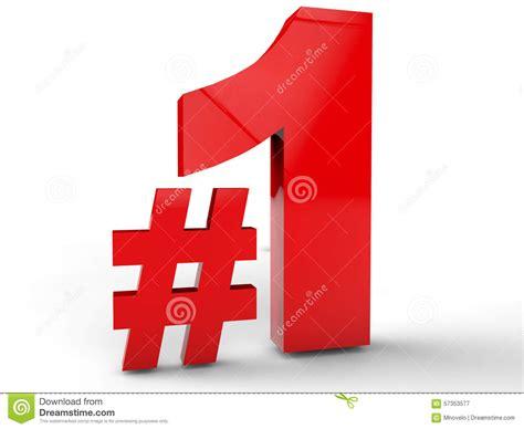 Number One Stock Illustration. Illustration Of Hashtag