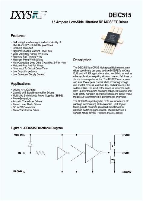 DEIC515_4547231.PDF Datasheet Download --- IC-ON-LINE