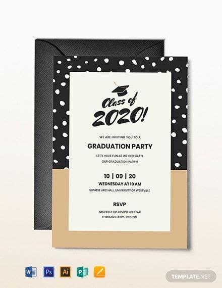 Graduation Invitation Template Word (DOC) PSD