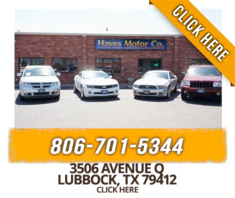 local lubbock texas hayes motor  save