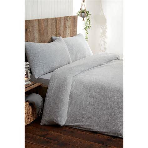 silentnight teddy fleece double duvet set bedding bm