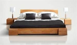 Lit Bois Massif Design : lit en bois designtokyo chambre coucher design en bois massif ~ Teatrodelosmanantiales.com Idées de Décoration
