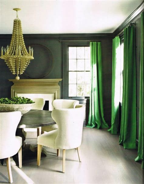 green dining room ideas green curtains transitional dining room douglass