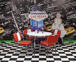 American Diner Tisch : american diner tischgruppe king ii 50er jahre look bistro set rot wei k che ~ Frokenaadalensverden.com Haus und Dekorationen