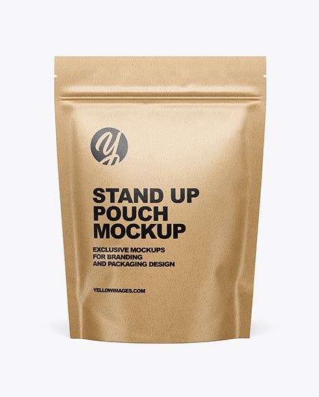 Three different paper psd stand up pouch mockup to let you display any branding designs. Download Kraft Paper Stand Up Pouch Mockup Yellowimages ...