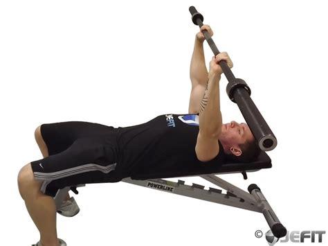 press jm barbell exercises exercise triceps jefit workout database enlarge fitness
