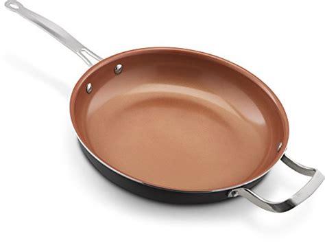 ceramic titanium  stick frying pan  lid   dishwasher oven safe  scratch