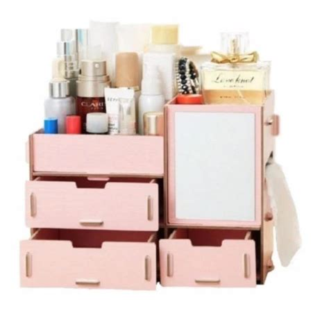 Rak Kosmetik Shopee rak kosmetik kayu lengkap cermin shopee indonesia