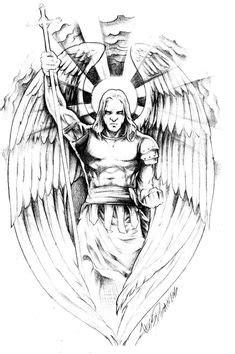 Pin by Gabi Vayman on Tattoo designs | Archangel tattoo, Archangel michael tattoo, Angel warrior