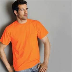 Fluorescent Neon Safety T Shirts by Gildan