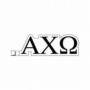 greek letters alpha chi omega plastic greek letter With plastic greek letters