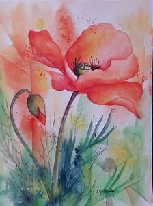 Aquarell Malen Blumen : poppy watercolor heidamke art pinterest mohnblume ~ Articles-book.com Haus und Dekorationen