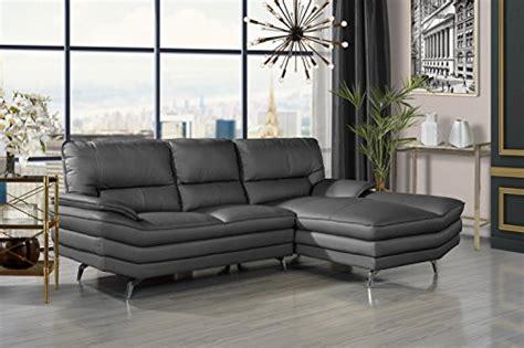 Divano Roma Furniture Living Room Leather Sectional Sofa