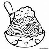 Coloring Spaghetti Shopkins Netti Season Foods Printable sketch template