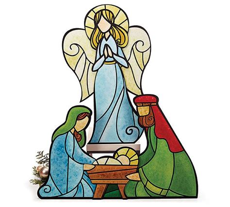 presepe clipart stained glass clipart nativity pencil and in color