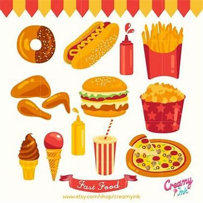 Clipart Vector Clip Fast Party Digital Hamburger