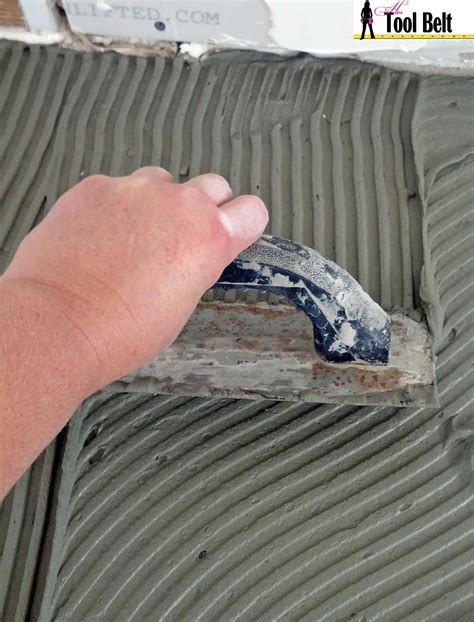 Thinset For Porcelain Wall Tile by Travertine Versailles Pattern Tile Tutorial Tool Belt