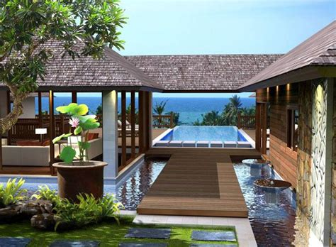 Tropical Home Style : Breezeway Of Modern Tropical Home