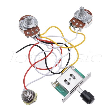 Guitar Wiring Harnes Kit by Electric Guitar Prewired Wiring Harness Kit For Fender