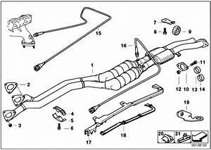 Original Parts For E36 328i M52 Sedan    Exhaust System