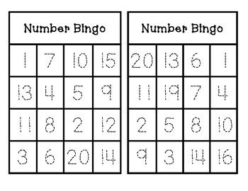 number bingo trace and play 1 20 by teks checklists and more by nicole pippin
