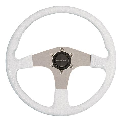 uflex usa corse steering wheel white gripsilver spokes