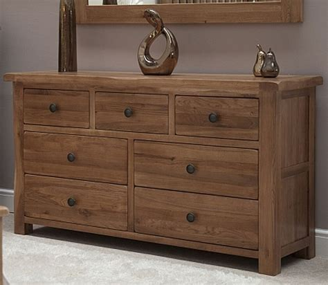 warwick solid oak bedroom furniture large wide multi chest  drawers ebay