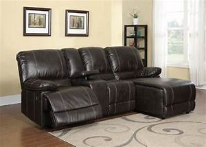 2pc modern transitional sectional recliner leather sofa for Garrison 2 pc leather sectional sofa reviews