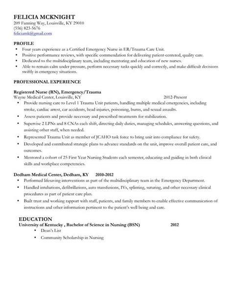Exle Of Rn Resume by Mid Level Resume Sle Nursing Rn Resume