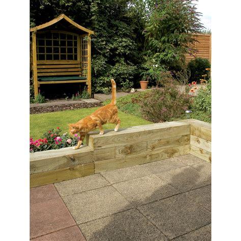 home design essentials railway sleeper 1 2m fencing garden fencing