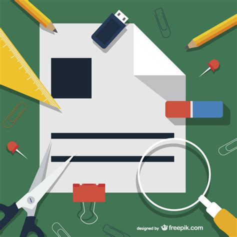 Office Supplies Vector by Office Supplies Illustration Vector Free