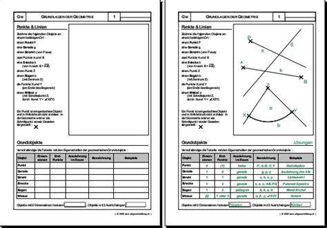 mathematik geometrie arbeitsblatt punkte linien