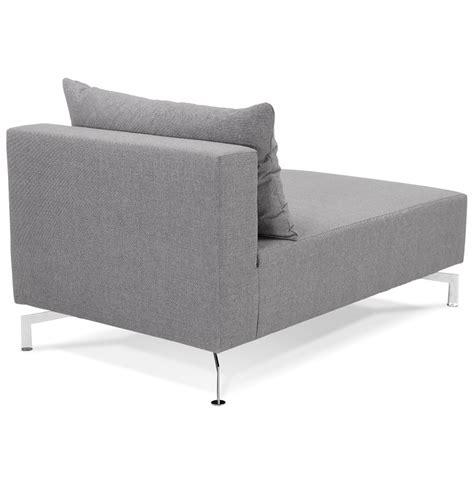 canapé voltaire méridienne voltaire longchair gris canapé modulable