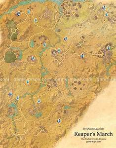 Reaper's March Skyshards Location Map - ESO game-maps com